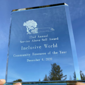 Service above Self Award Inclusive World